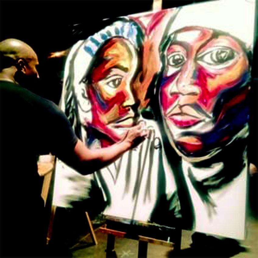 Corey Barksdale Atlanta Artist Mural artist Corey Barksdale was born in  Nashville, Tennessee into a family of Artists - Atlanta Art Gallery