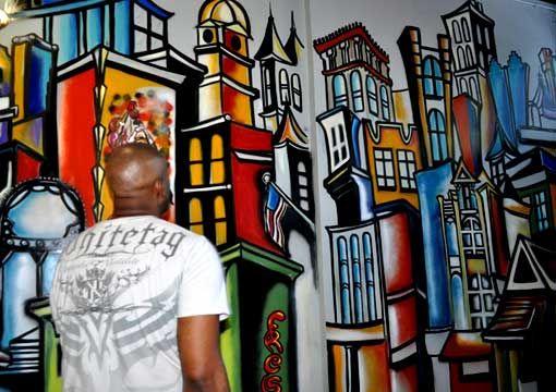 Corey barksdale mural wall art african american muralist for African american mural