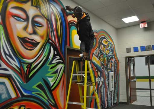 Mural wall art african american muralist commission a for Atlanta mural artist