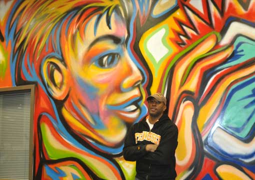 Corey barksdale mural wall art african american muralist for African mural painting