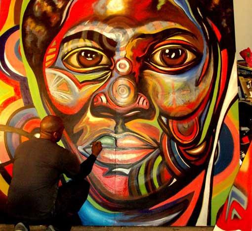 Corey Barksdale Abstract Art Gallery Atlanta Georgia Mural Artist