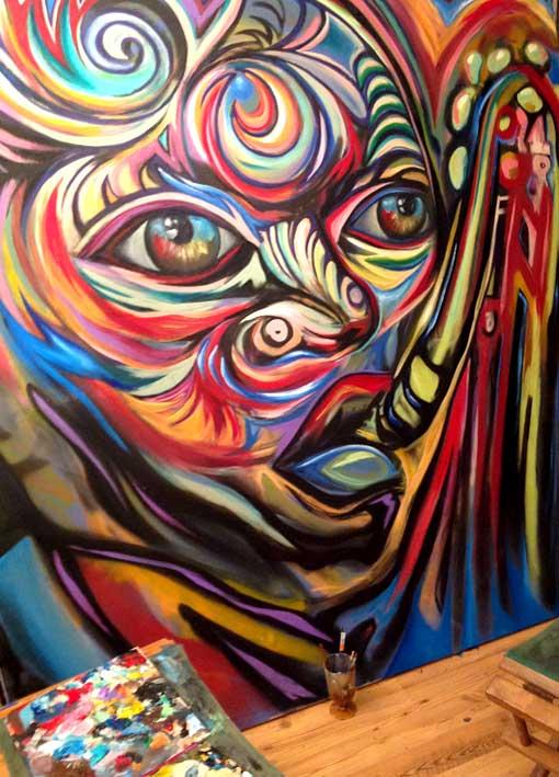 Corey barksdale african american art gallery atlanta for Atlanta mural artist