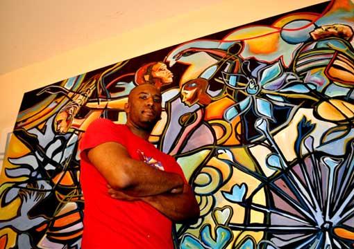 Large format original paintings by atlanta artist corey for Atlanta mural artist