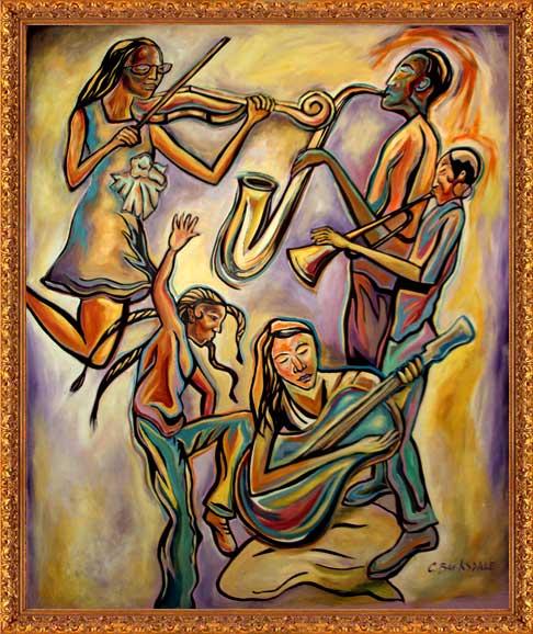 Image gallery large format painting for Atlanta mural artist