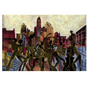 Atlanta Poster Reproduction the city of atlanta art atlanta city painting art on commission atlanta art