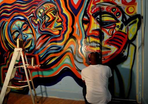 Corey barksdale atlanta performance art corporate fund for Atlanta mural artist