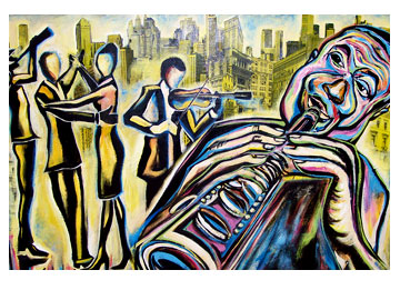 dizzy jazz art merican jazz art paintings new orlean fine jazz art artist